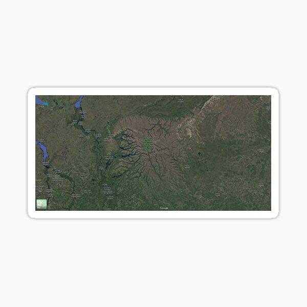 The Putorana Plateau (Плато Путорана, Plato Putorana), Putorana Mountains Sticker