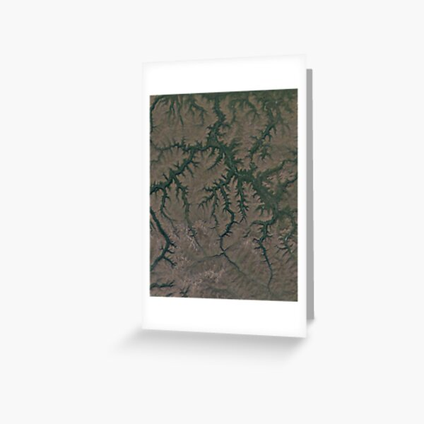 The Putorana Plateau is a high-lying plateau crossed by mountain ranges at the northwestern edge of the Central Siberian Plateau Greeting Card