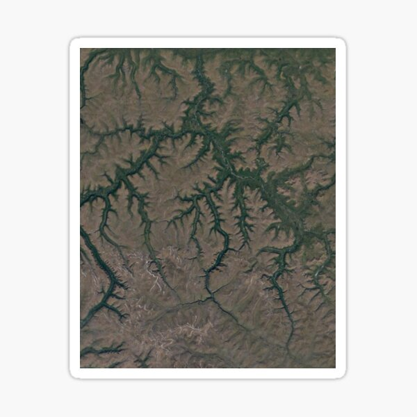 The Putorana Plateau is a high-lying plateau crossed by mountain ranges at the northwestern edge of the Central Siberian Plateau Sticker