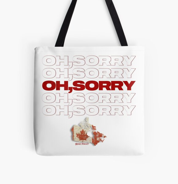 Oh, Sorry All Over Print Tote Bag