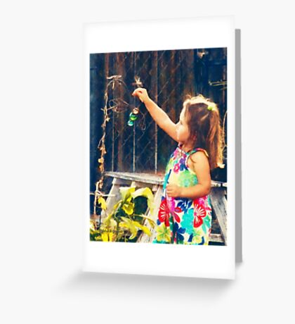 Dragonfly Girl (Art & Poetry) Greeting Card