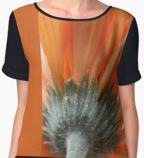 Bright Orange Women's Chiffon Top