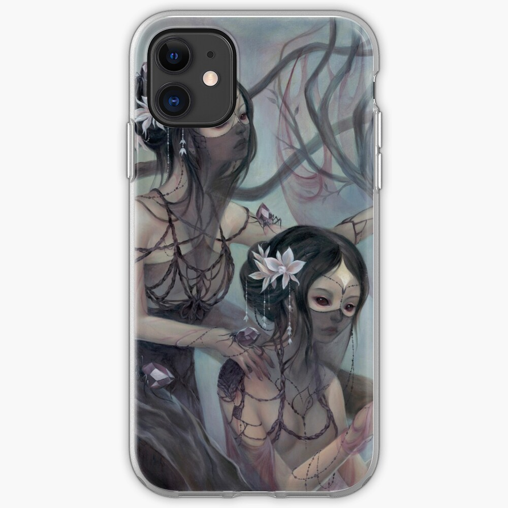 collecting silk from crystal spiders iPhone Case & Cover