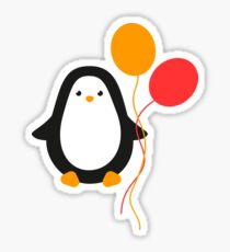 Penguin with balloons Sticker
