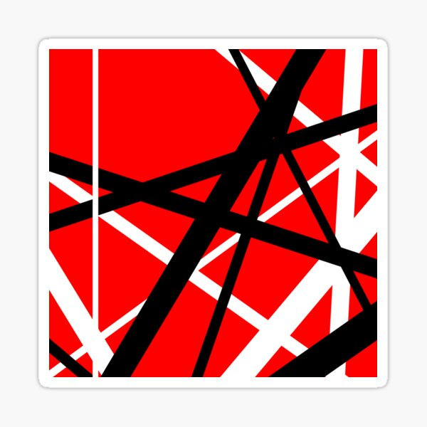 Red and black Sticker
