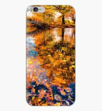 Boston Fall Foliage Reflection iPhone Case