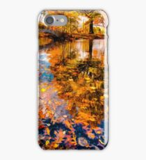 Boston Fall Foliage Reflection iPhone Case/Skin