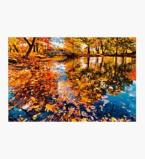 Boston Fall Foliage Reflection Photographic Print
