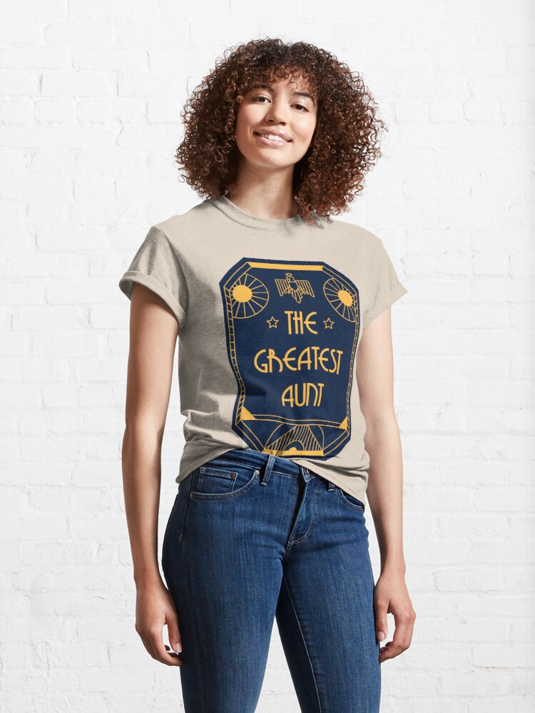 Alternate view of The Greatest Aunt - Art Deco Medal of Honor Classic T-Shirt