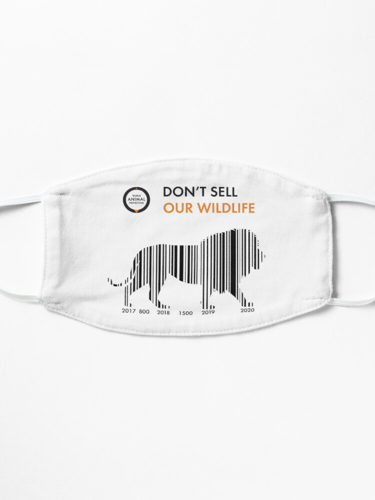 Alternate view of Lion - Don't sell our wildlife Mask