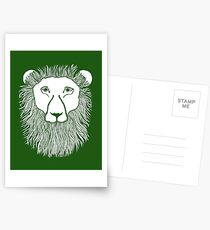 Green Lion Loves You Postcards