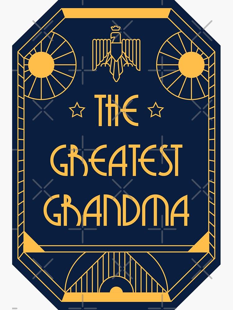 The Greatest Grandma - Art Deco Medal of Honor by Millusti
