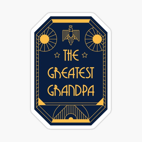 The Greatest Grandpa - Art Deco Medal of Honor Sticker