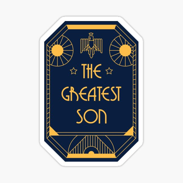The Greatest Son - Art Deco Medal of Honor Sticker