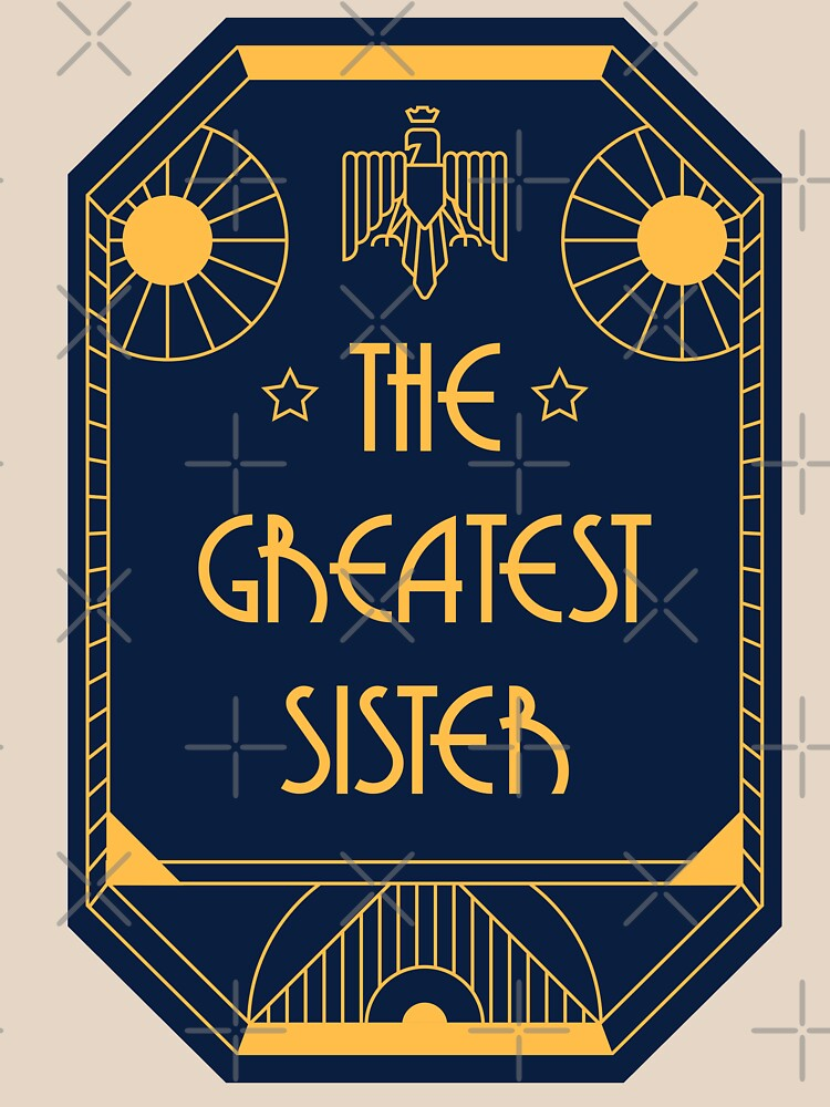 The Greatest Sister - Art Deco Medal of Honor by Millusti
