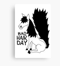 Bad Hair Day Horse Canvas Print