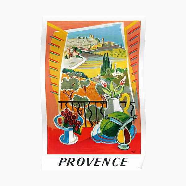 Affiche de voyage vintage Provence France restaurée Poster