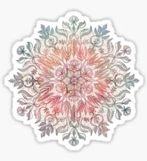 Autumn Spice Mandala in Coral, Cream and Rose Sticker