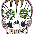 "Sugar Skull ""Pink Frame"" by ArtistACP"