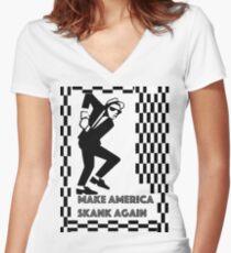 Make America Skank Again  Women's Fitted V-Neck T-Shirt