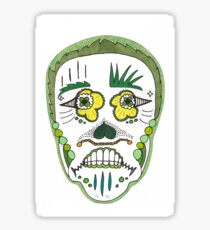"Sugar Skull ""Green Frame"" Sticker"