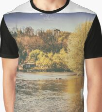 swan in the river Graphic T-Shirt