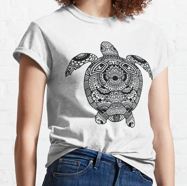 Turtle mandala, sea turtles graphic, sea turtle mandala, turtle drawing Classic T-Shirt