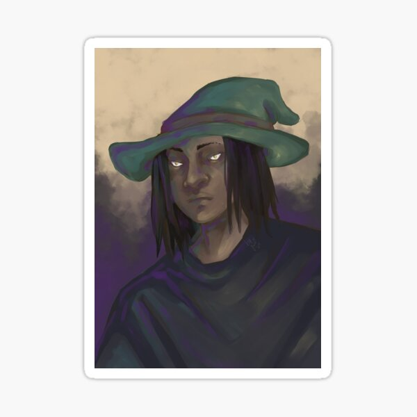 """Digitally painted - """"witch-like mood"""" Sticker"""