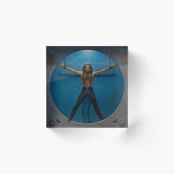 Vitruvian Man Acrylic Block