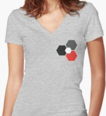 Linus Tech Tips - WAN Show Logo (2) Women's Fitted V-Neck T-Shirt