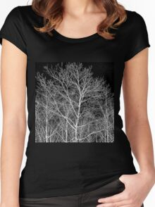 Forest lace Women's Fitted Scoop T-Shirt