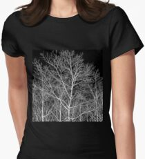 Forest lace Womens Fitted T-Shirt