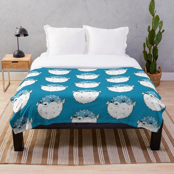 Fugu puffer fish Throw Blanket