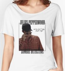 JULIUS PAPPERWOOD ZOMBIE DECTECTIVE Women's Relaxed Fit T-Shirt