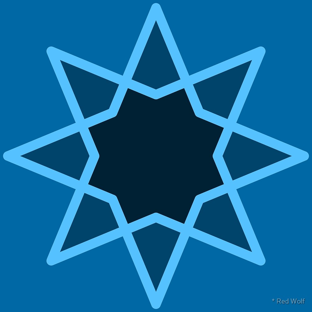 Geometric Pattern: Octagram: Blueberry by * Red Wolf