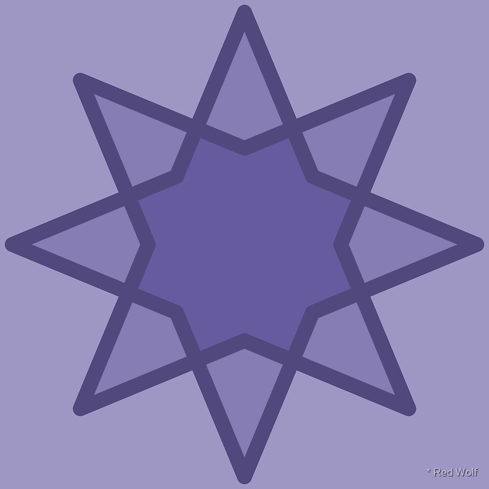 Geometric Pattern: Octagram: Lavender by * Red Wolf
