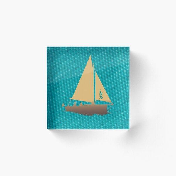 Segelboot: Schönes aus den Dangast-Sternen Acrylblock