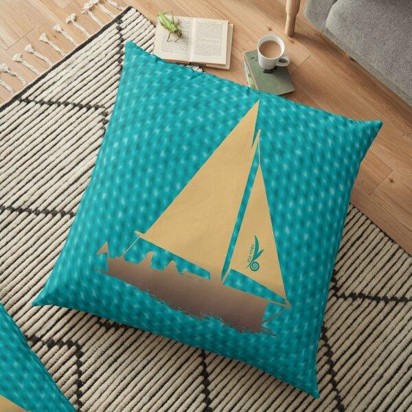 Segelboot: Schönes aus den Dangast-Sternen Bodenkissen