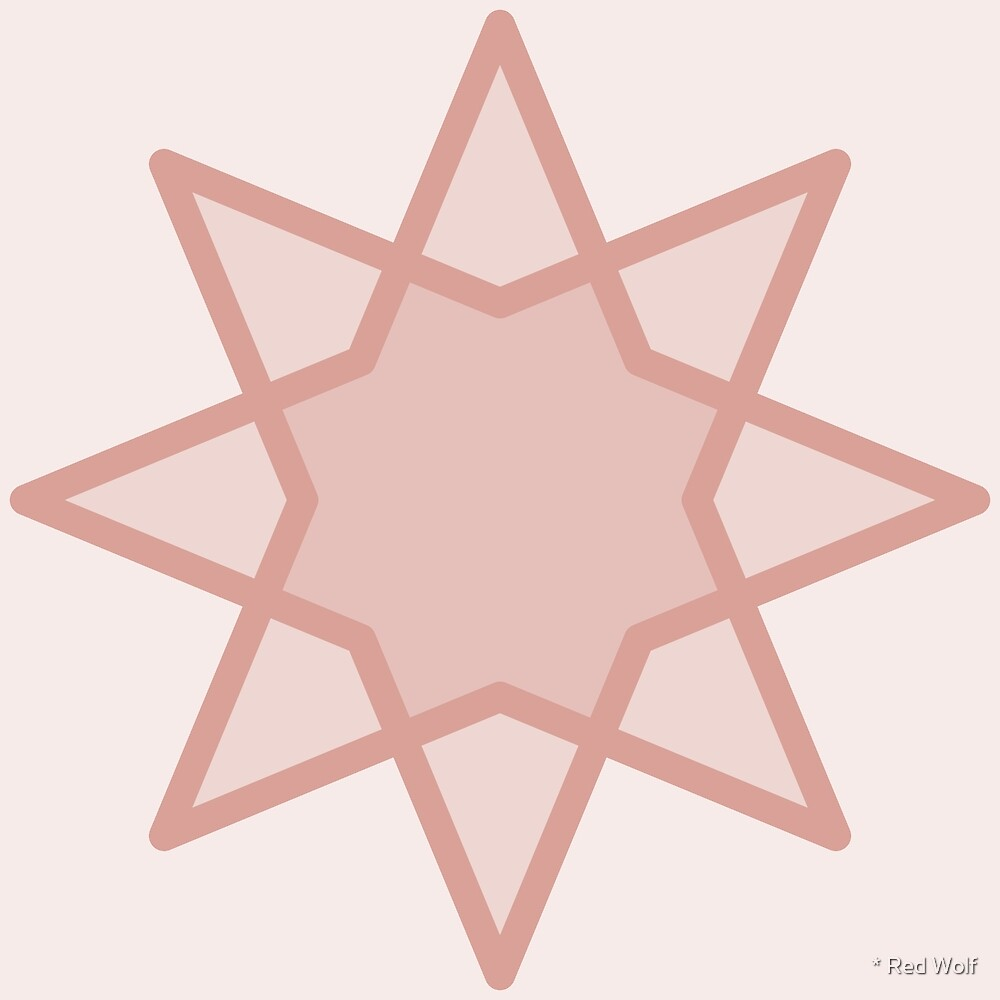 Geometric Pattern: Octagram: Peach by * Red Wolf
