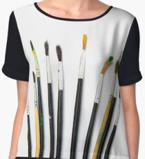 set of brushes for drawing Women's Chiffon Top
