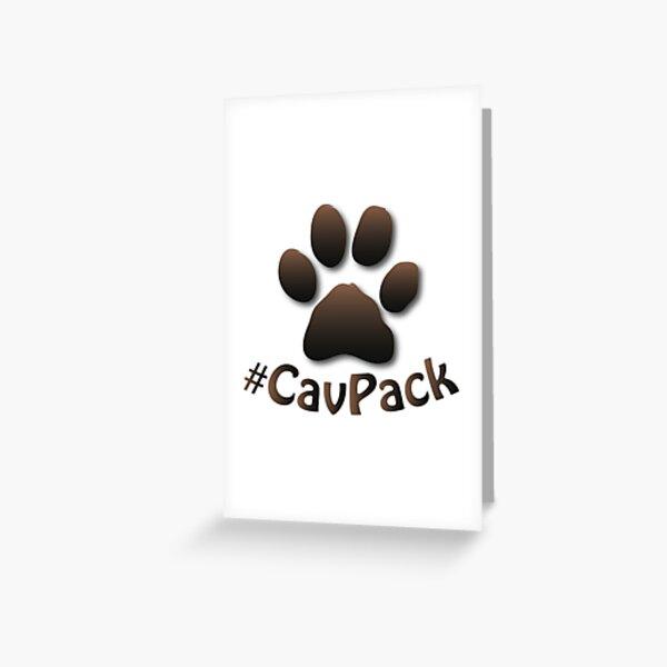CavPack Brown Paw Greeting Card