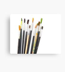 set of brushes for drawing  Canvas Print
