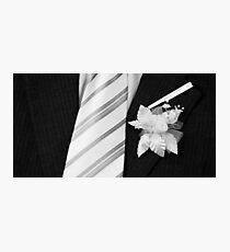 wedding groom suit and tie  Photographic Print