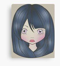 Dollhouse Girl Blue Canvas Print