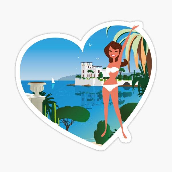 French Riviera girl1 Sticker