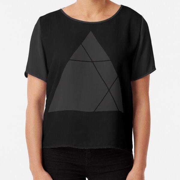 Geometric Triangle 1 Chiffon Top