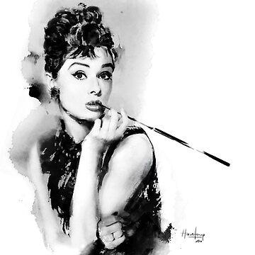 Audrey Hepburn by hazelong