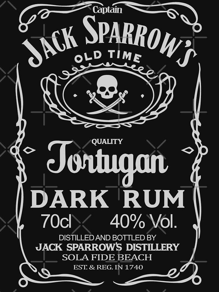 Captain jack sparrow's dark rum by MADTEEZ