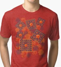 Orange Rose Tri-blend T-Shirt