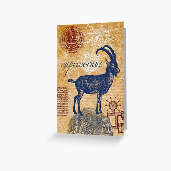 capricornus   Steinbock Grußkarte